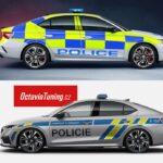 Škoda Octavia 4 RS v policejním provedení