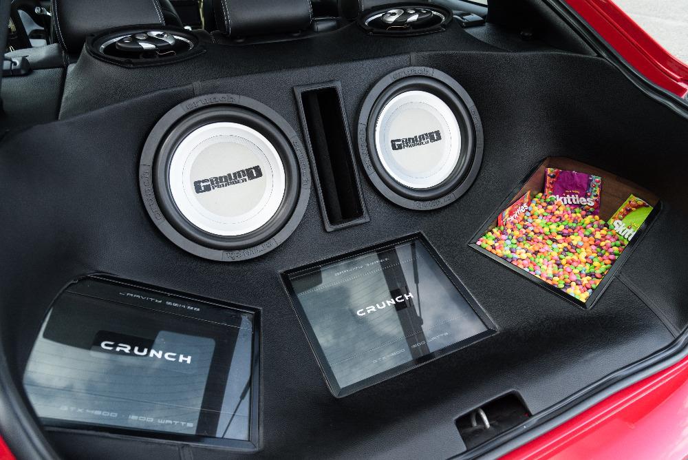 Škoda Octavia 1 RS tuning - audio zástavba do kufru