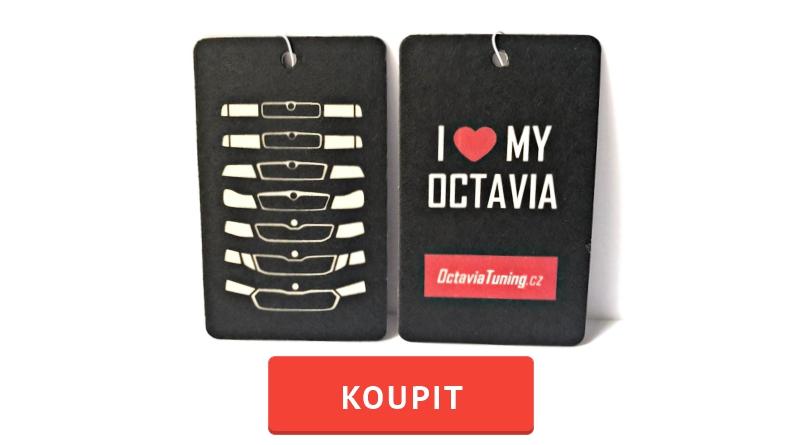 Závěsná vůně do auta: I ♥ Octavia